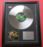 GOOD CHARLOTTE - The Young AND THE Hopeless CD / PLATINUM PRESENTATION DISC